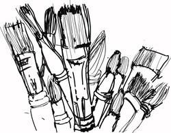 brushes hand drawn