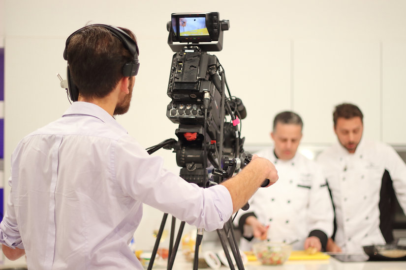 Chefs Cooking on television show cameram