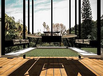 Réalisation de supports techniques et visuels de rendu quant à la conception  mobilier de jardin en acier et composite.