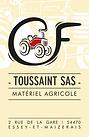 Réalisation de l'identité visuelle du concessionnaireagricole TOUSSAINT SAS.