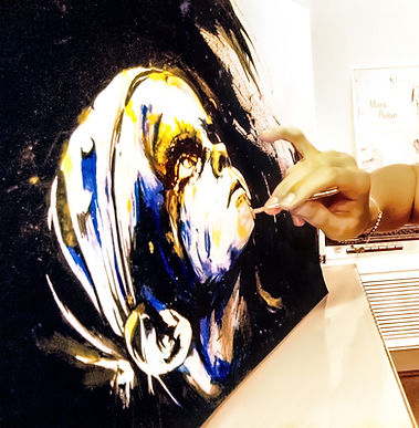 Portrait - Acrylique & pigments - 29,7 x 42 cm