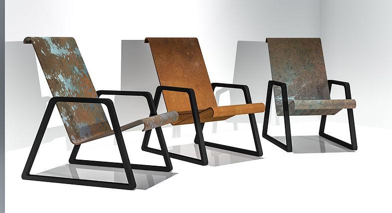 Conception d'une gamme de mobilier d'extérieur en métal