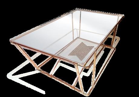 Concption et réalisation d'une table basse e cuivre