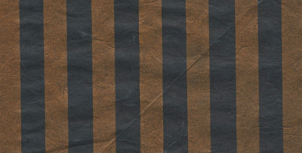 """ラッピングペーパー""""Gold Stripe""""+リボン"""