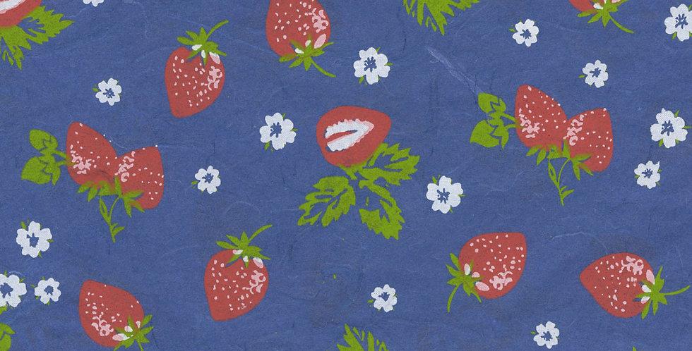 """ラッピングペーパー""""Strawberry""""+リボン"""
