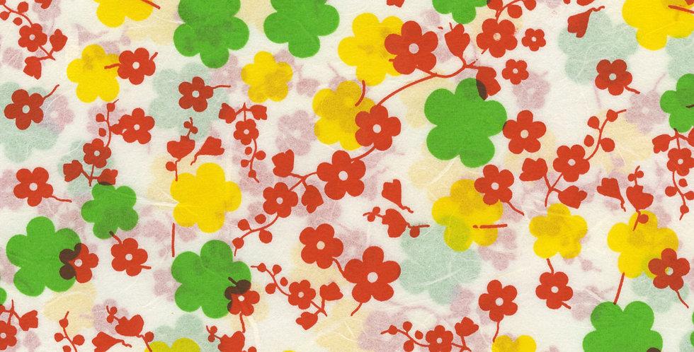 """ラッピングペーパー""""Feed Sack Flower""""+リボン"""