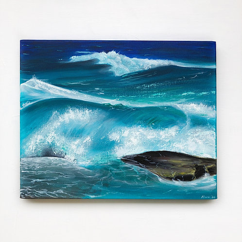"16""x20"" Seascape Painting"