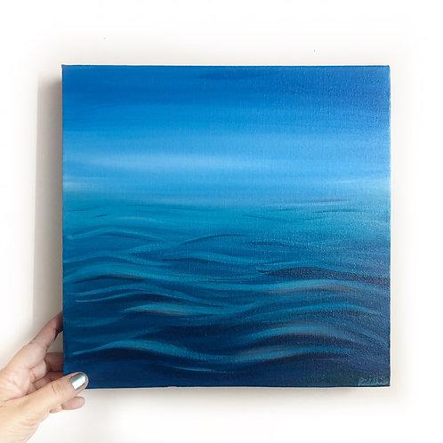 """Calm Ocean - 12""""x12"""" Acrylic on canvas"""