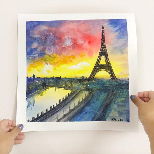 """Eiffel Tower - 12""""x12"""" Art Print"""