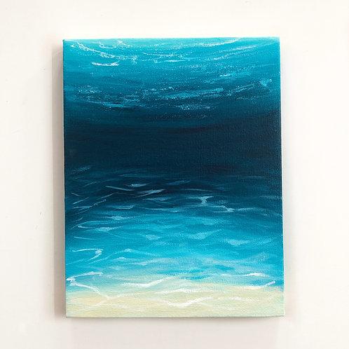 "9""x12"" Underwater Seascape Painting"