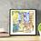 "Thumbnail: Bicycle & Window - 12""x12"" Art Print"
