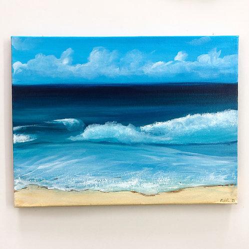 "12""x16"" Seascape Painting"