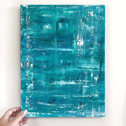 "Abstract Seascape - 12""x16"" Acrylic on Canvas"