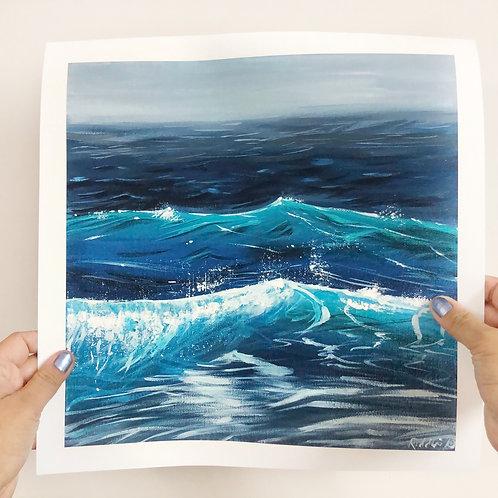 "Ocean Wave - 12""x12"" Fine Art Print"