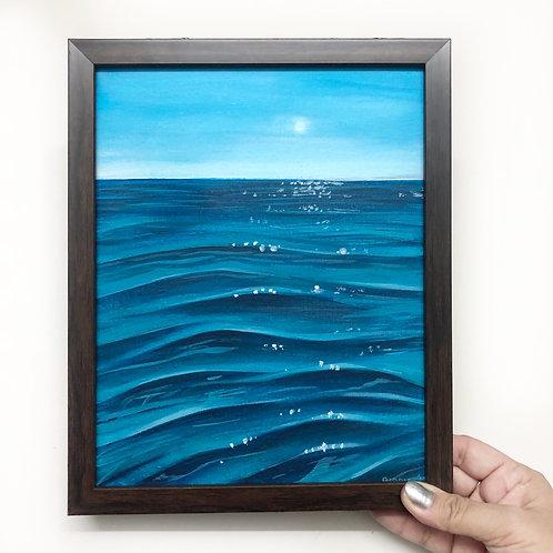 """The Calm Sea - 8""""x10"""" Acrylic on Canvas"""