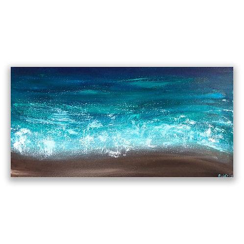 "Bright Shores - 12""x24"" Acrylic on Canvas"