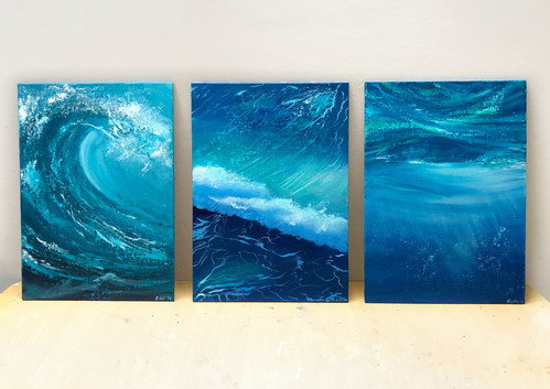 Original seascape painting by riddhi mal