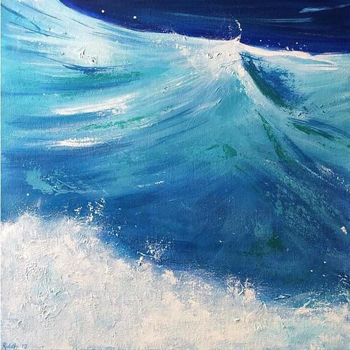 "Transparent Waves - 18""x18"" Acrylic on Canvas"