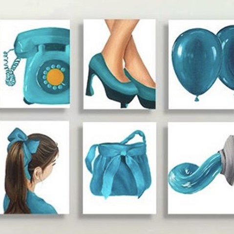 The Turquoise Set - Set of 6 prints