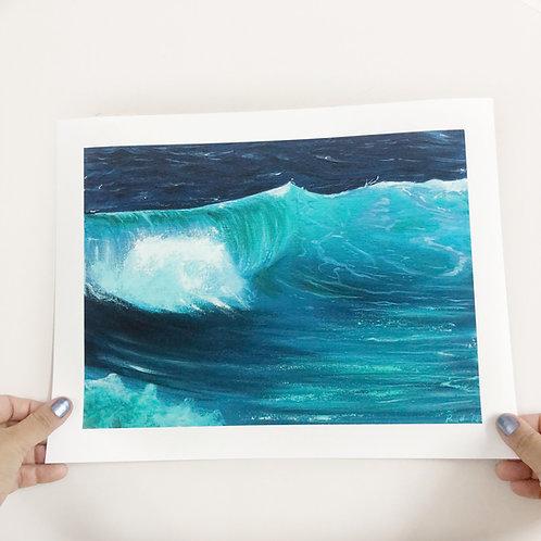 "Ocean Wave - 9""x12"" Fine Art Print"