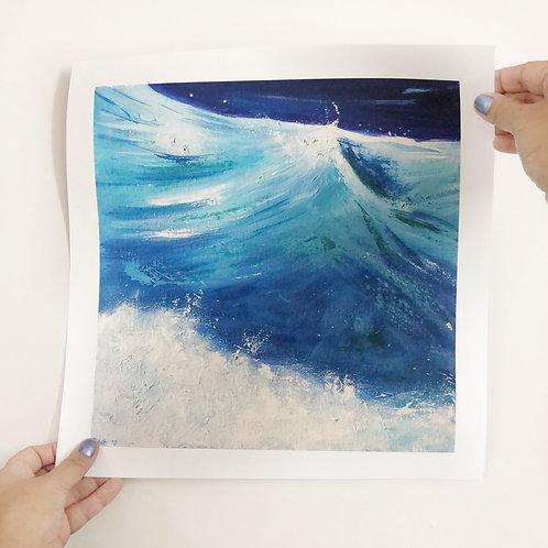 "Transparent Waves - 12""x12"" Fine Art Print"