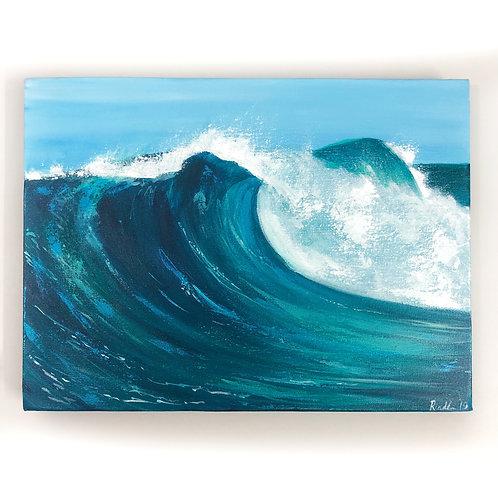 """Ocean Wave - 12""""x16"""" Acrylic on Canvas"""