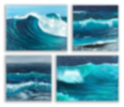 Seascapes by Riddhi Malhotra acrylic on