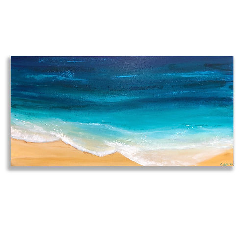 "Bright Shores - Part 2: 12""x24"" Acrylic on Canvas"