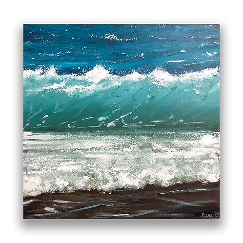 """Sea Salt - 20""""x20"""" Acrylic on Canvas"""