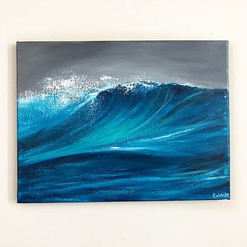 """12""""x16"""" Ocean Wave Painting"""