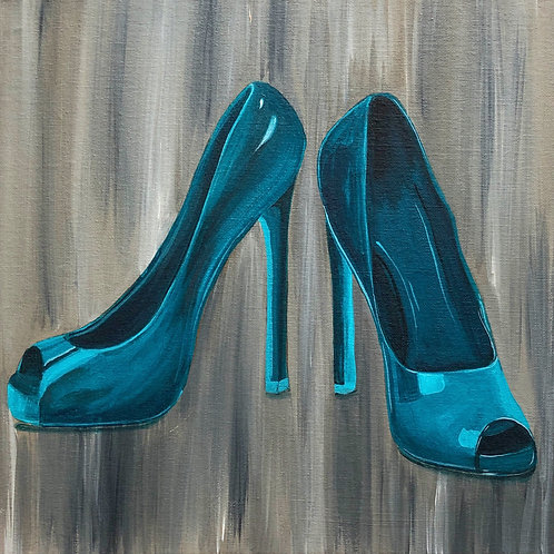 """New Shoes - 12""""x12"""" Acrylic on Canvas"""