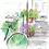 "Thumbnail: Bicycle Painting - 10""x10"" Art Print"