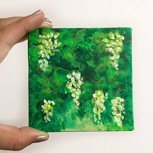 """Little Green Painting - 4""""x4"""" Tile"""