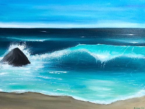 "Blue and Pretty - 18""x24"" Acrylic on Canvas"
