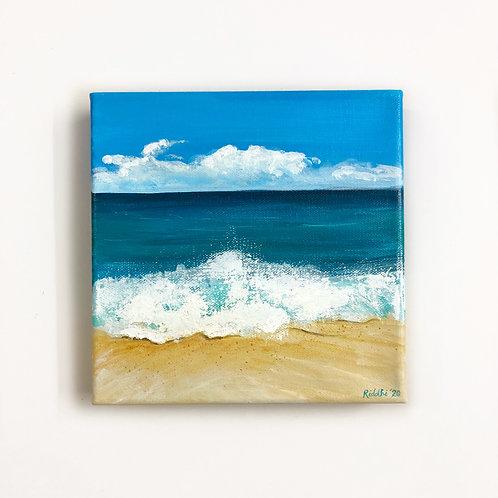 "8""x8"" Seascape Painting"