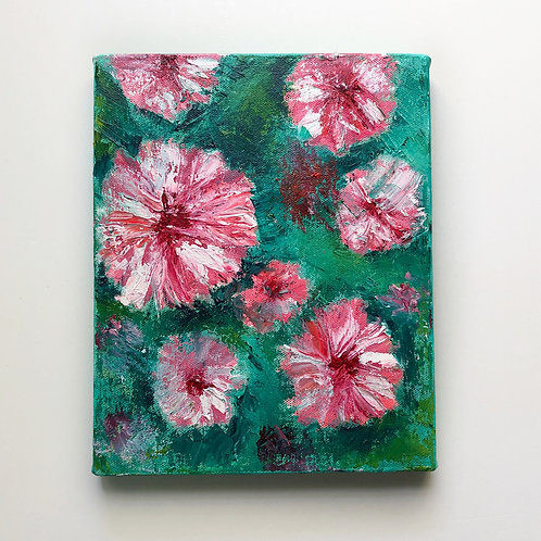 """8""""x10"""" Floral Oil Painting"""