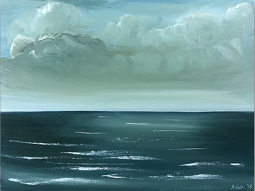 "Steely Skies - 18""x24"" Acrylic on Canvas"