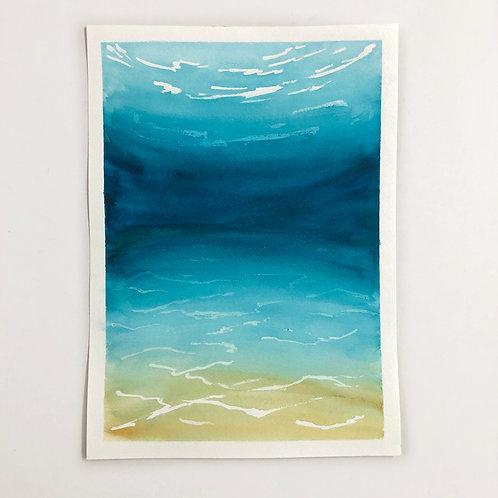 "10""x14"" Watercolour Underwater Seascape"