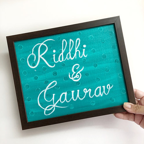 Custom Made Hand Painted Name Plaque