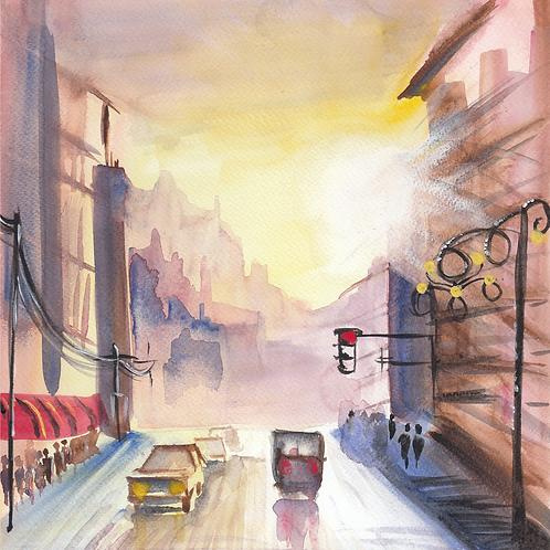 """Original Watercolor - 10""""x10"""" Art Print"""