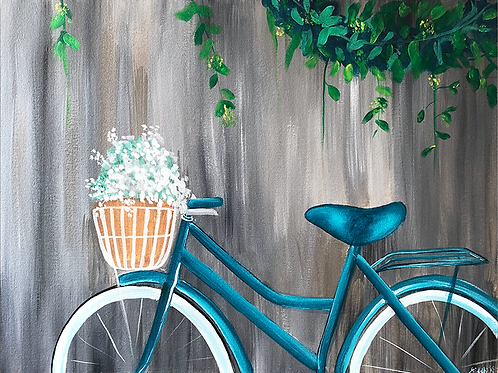 The Blue Bicycle - Art Print
