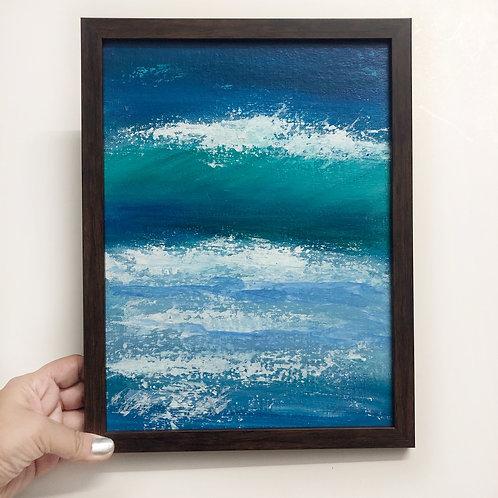 "Sea Shimmer - 9""x12"" Acrylic on Canvas"