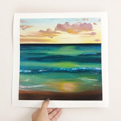 "Sunset - 12""x12"" Fine Art Print"