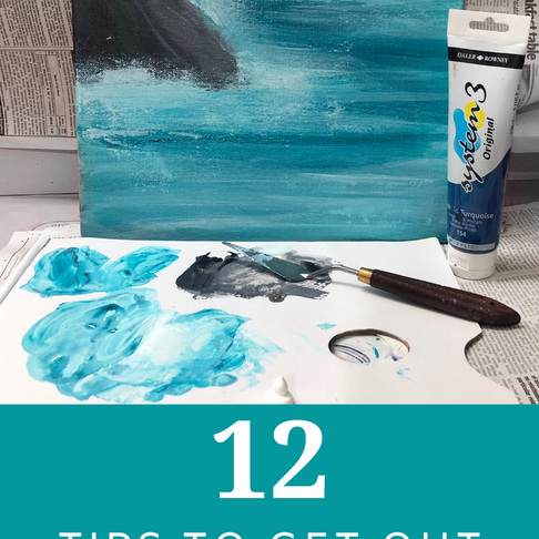 12 Tips to get out of an Art Block