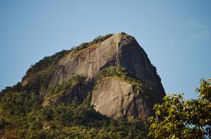 Vista do pico no inicio da trilha