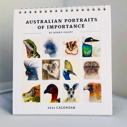 2021 desk calendar  Australian  Portraits  Of Importance