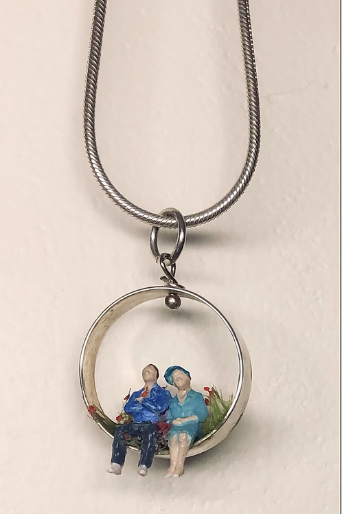He and Me necklace