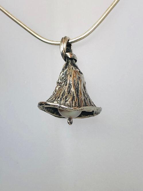 Silver gum nut pendant
