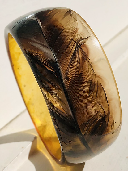Resin feather bangle