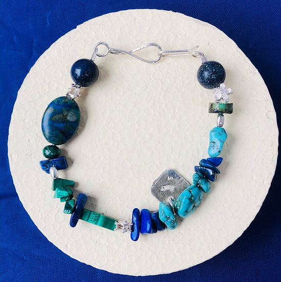 Turquoise ,lapis bracelet
